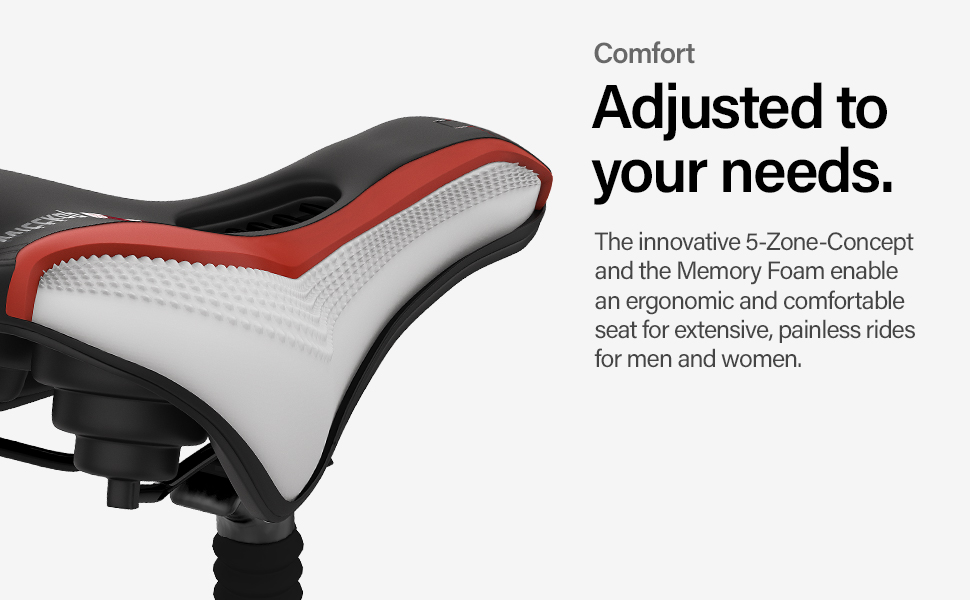 6884b85a b9c9 4e1d bc35 181306d0c662.  CR0,0,970,600 PT0 SX970 V1    - Wittkop Bike Seat [for Trekking Bikes] - Bicycle Seat for Men & Women, Waterproof Bike Saddle with Innovative 5-Zone-Concept & Gel Pad, Bicycle Saddle