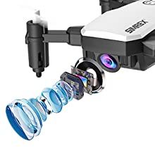 68a781d0 6bdc 4411 9393 21d38102527e.  CR0,0,300,300 PT0 SX220 V1    - SIMREX X300C Mini Drone RC Quadcopter Foldable Altitude Hold Headless RTF 360 Degree FPV Video WiFi 720P HD Camera 6-Axis Gyro 4CH 2.4Ghz Remote Control Super Easy Fly for Training(White)