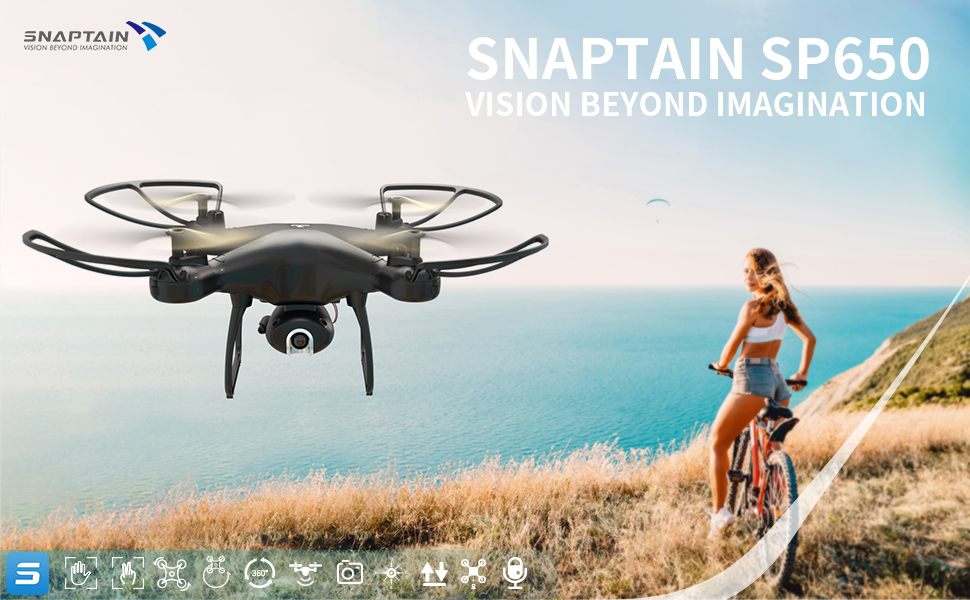 75d45c2d 1ed8 4756 ac46 18ed9f54099f.  CR0,0,970,600 PT0 SX970 V1    - SNAPTAIN SP650 1080P Drone with Camera for Adults 1080P HD Live Video Camera Drone for Beginners w/Voice Control, Gesture Control, Circle Fly, High-Speed Rotation, Altitude Hold, Headless Mode