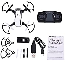 86c07b49 8803 4250 849b 436a74465fbe.  CR0,0,300,300 PT0 SX220 V1    - SIMREX X300C Mini Drone RC Quadcopter Foldable Altitude Hold Headless RTF 360 Degree FPV Video WiFi 720P HD Camera 6-Axis Gyro 4CH 2.4Ghz Remote Control Super Easy Fly for Training(White)