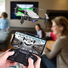 8d5a3a0f ae79 49b7 bf35 acb297c08e2d.  CR0,0,300,300 PT0 SX220 V1    - SIMREX X300C Mini Drone RC Quadcopter Foldable Altitude Hold Headless RTF 360 Degree FPV Video WiFi 720P HD Camera 6-Axis Gyro 4CH 2.4Ghz Remote Control Super Easy Fly for Training(White)