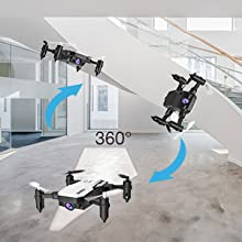 93288b97 ac61 46a4 8e7b e4d11301a067.  CR0,0,300,300 PT0 SX220 V1    - SIMREX X300C Mini Drone RC Quadcopter Foldable Altitude Hold Headless RTF 360 Degree FPV Video WiFi 720P HD Camera 6-Axis Gyro 4CH 2.4Ghz Remote Control Super Easy Fly for Training(White)