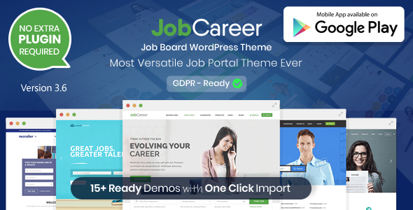 Preview 3.6.  large preview - JobCareer | Job Board Responsive WordPress Theme