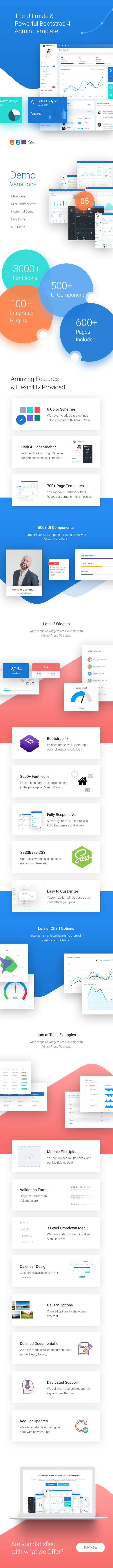 admin press featured - Admin Press - Ultimate & Powerful Bootstrap 4 Dashboard Template
