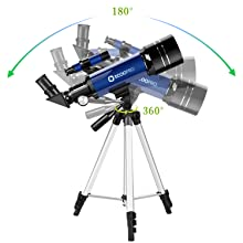ae6d4009 3c46 4289 be38 86a063c7042e.  CR0,0,1500,1500 PT0 SX220 V1    - Telescope for Kids Beginners Adults, 70mm Astronomy Refractor Telescope with Adjustable Tripod - Perfect Telescope Gift for Kids