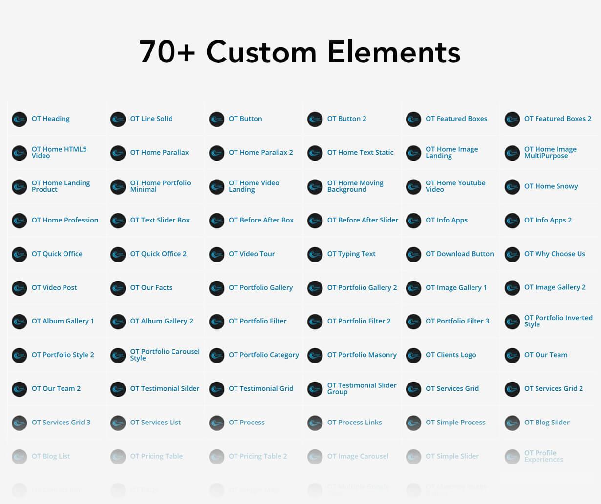 archi custom elements - Archi - Interior Design WordPress Theme