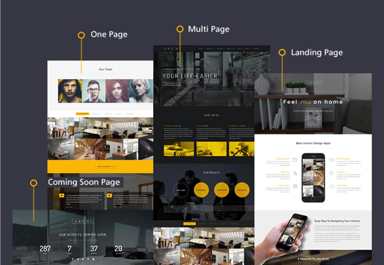 archi multipurpose - Archi - Interior Design WordPress Theme