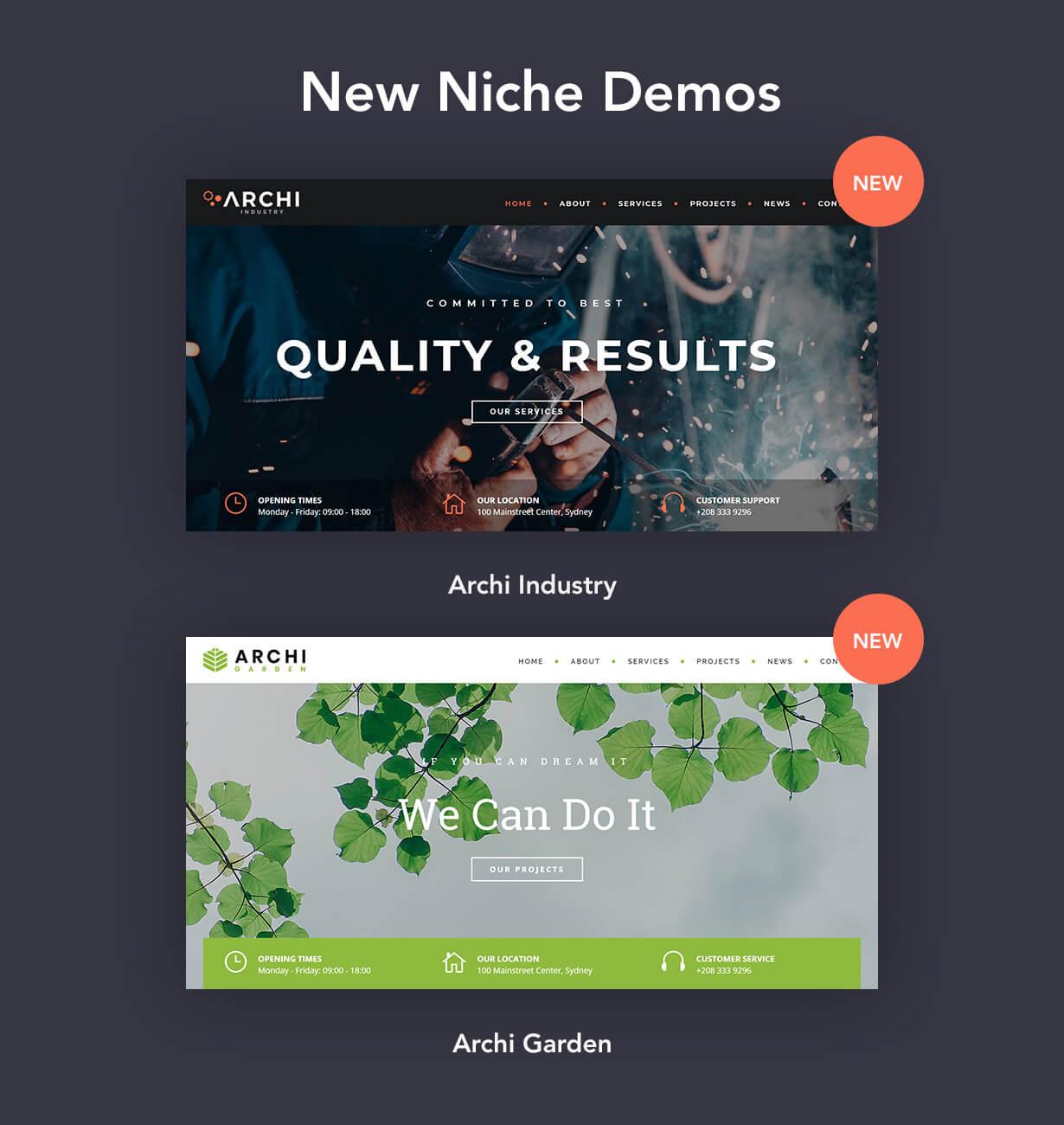 archi niche - Archi - Interior Design WordPress Theme