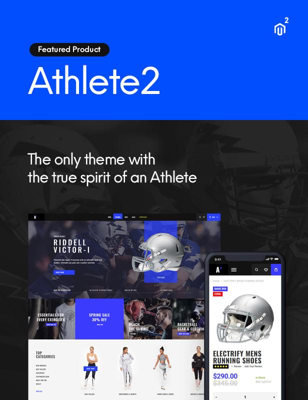 athlete2 tf announce - Shopper - Magento Theme, Responsive & Retina Ready