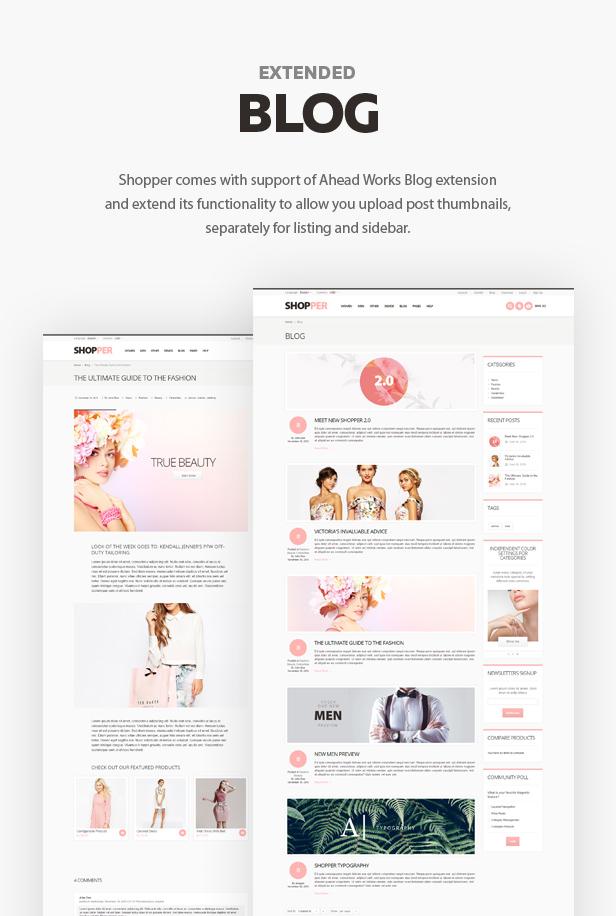 blog - Shopper - Magento Theme, Responsive & Retina Ready