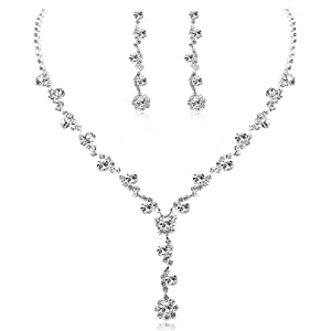 ce2c2d9f 1649 4ef8 af98 943e1503669e.  CR11,0,808,808 PT0 SX300 V1    - Udalyn Rhinestone Bridesmaid Jewelry Sets for Women Necklace and Earring Set for Wedding with Crystal Bracelet