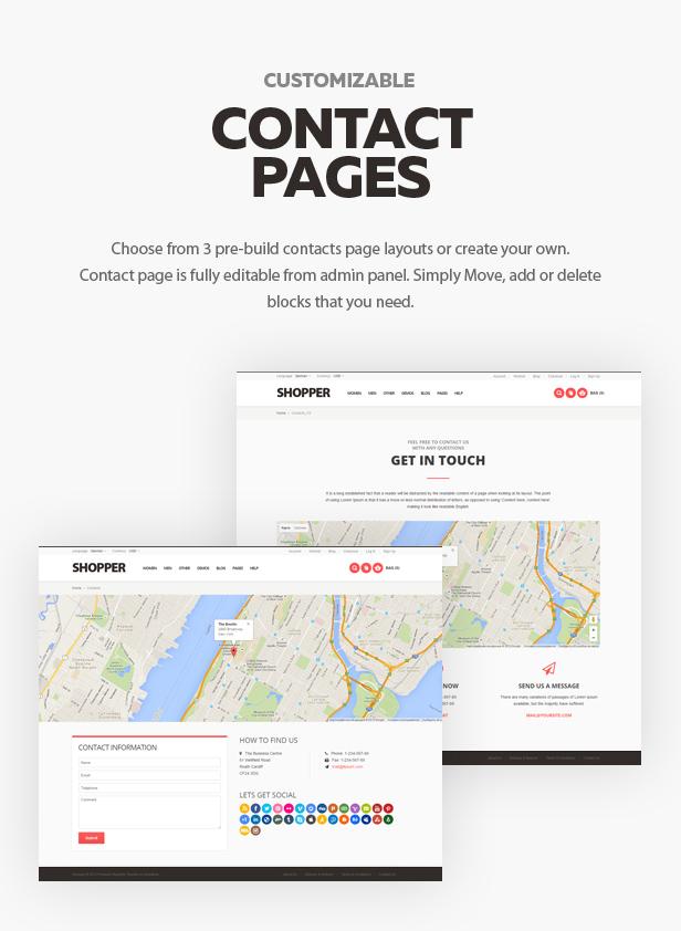 contact - Shopper - Magento Theme, Responsive & Retina Ready