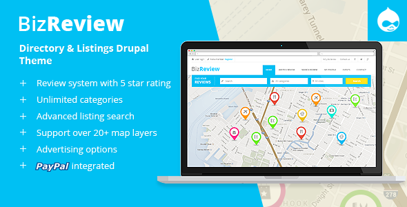 cover.  large preview - BizReview - Directory Listing Drupal 9 - 8 - 7 Theme