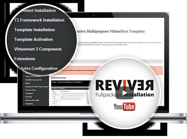 documentation videos - Reviver - Responsive Multipurpose VirtueMart Theme