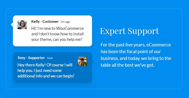 expert support - Nitro - Universal WooCommerce Theme from ecommerce experts