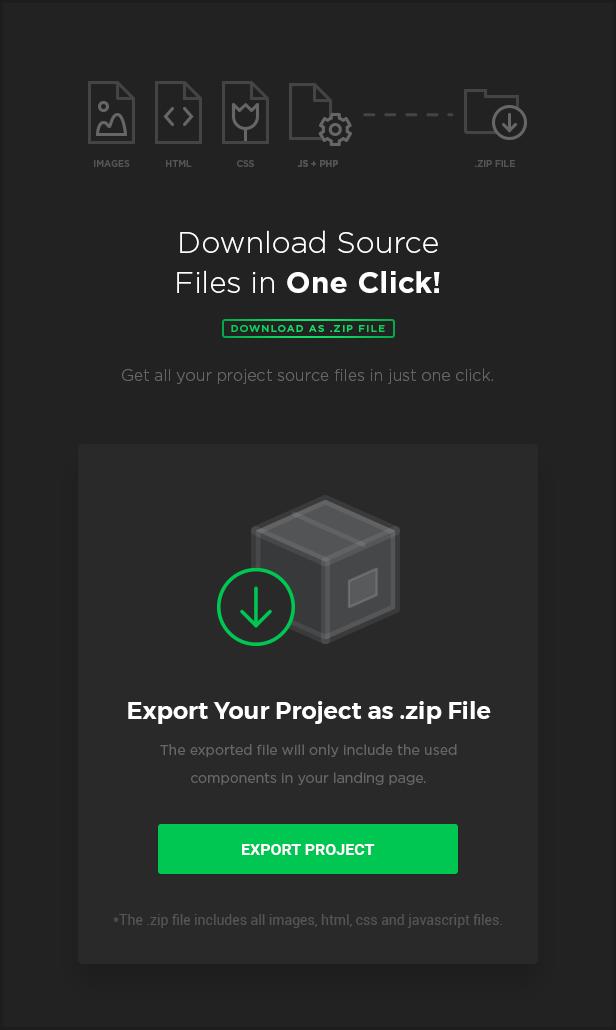 export - MEGAPACK – Marketing HTML Landing Pages Pack + PixFort Page Builder Access