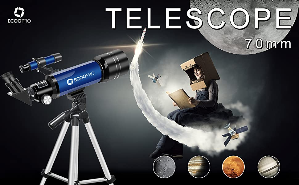 f090a442 8112 4f0c bc27 db3fe256efbf.  CR0,0,1940,1200 PT0 SX970 V1    - Telescope for Kids Beginners Adults, 70mm Astronomy Refractor Telescope with Adjustable Tripod - Perfect Telescope Gift for Kids