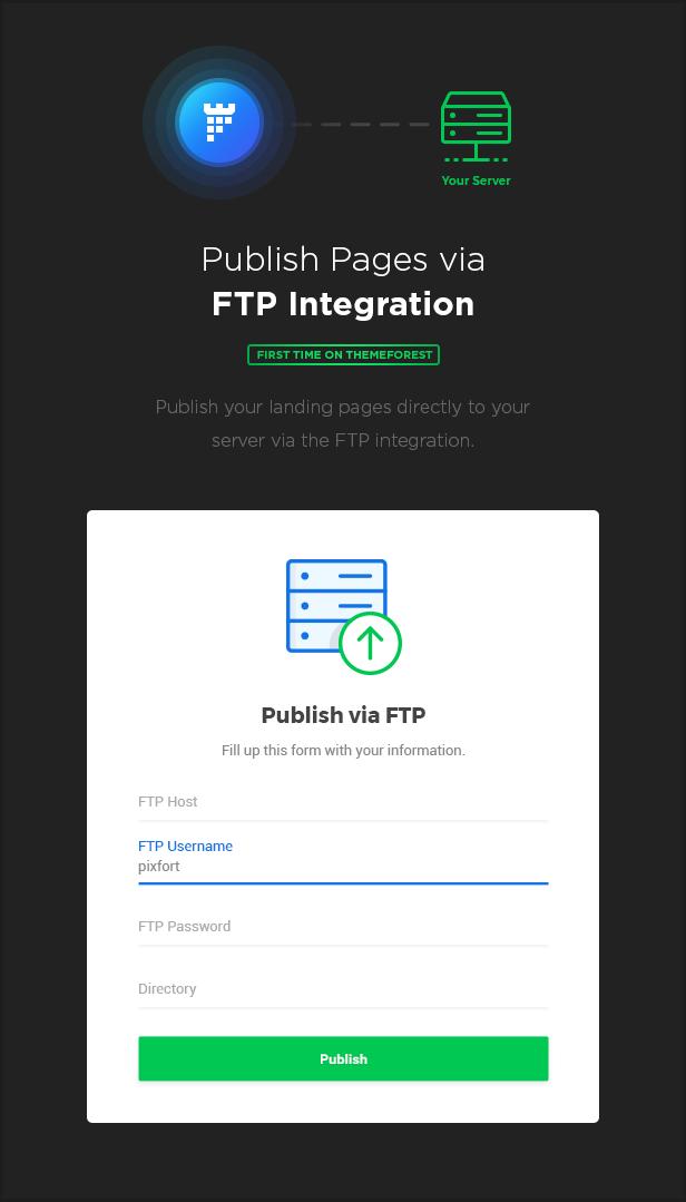 ftp - MEGAPACK – Marketing HTML Landing Pages Pack + PixFort Page Builder Access
