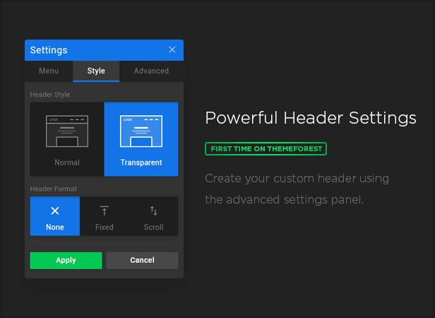header set - MEGAPACK – Marketing HTML Landing Pages Pack + PixFort Page Builder Access