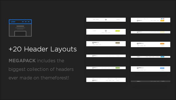 headers - MEGAPACK – Marketing HTML Landing Pages Pack + PixFort Page Builder Access