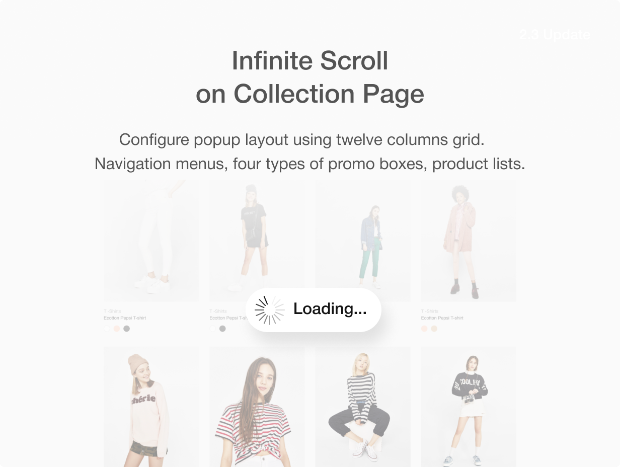 infinit scroll - Shella - Multipurpose Shopify theme, fastest with the banner builder