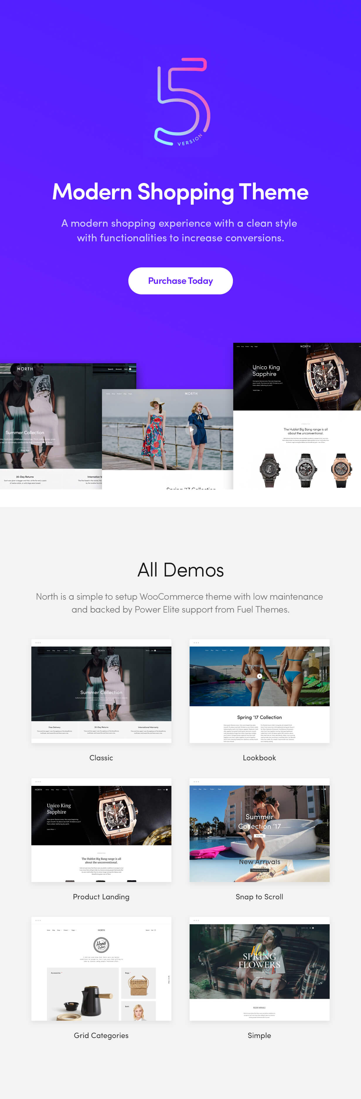 item 01 - North - Responsive WooCommerce Theme