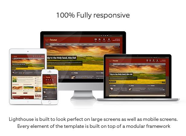 lighthouse 100 responsive design - Lighthouse - Responsive Charity Church Joomla Template