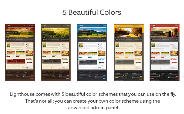 lighthouse color options - Lighthouse - Responsive Charity Church Joomla Template