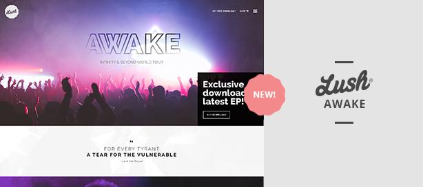 marketing lush awake - Lush - Music Band & Musician WordPress Theme