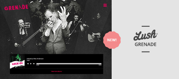 marketing lush grenade - Lush - Music Band & Musician WordPress Theme