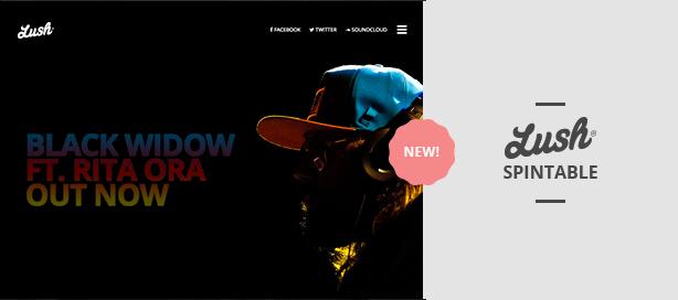 marketing lush spintable - Lush - Music Band & Musician WordPress Theme