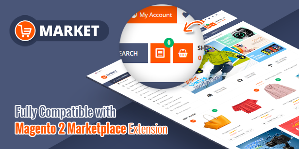 marketplace extensions - Market - Premium Responsive Magento 2 and 1.9 Store Theme with Mobile-Specific Layout (23 HomePages)
