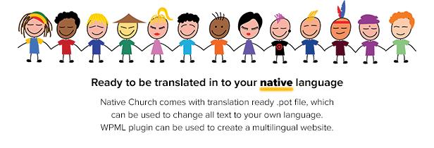 nativechurch languages1 - Native Church - Multi Purpose WordPress Theme
