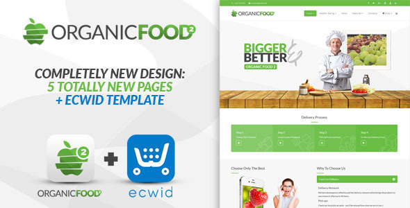 organic2 preview image.  large preview - Organic Food - Responsive Joomla Template