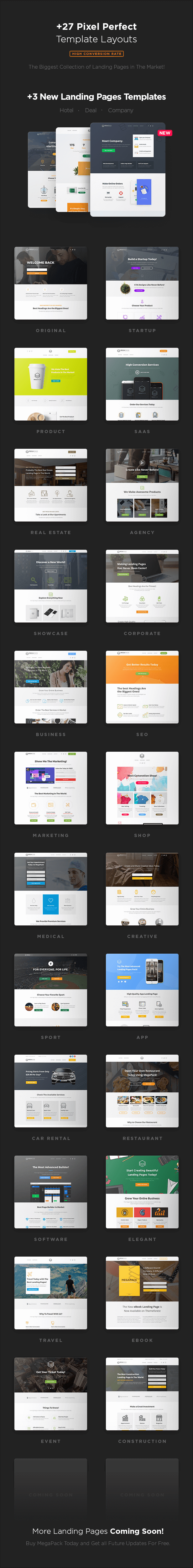 pages - MEGAPACK – Marketing HTML Landing Pages Pack + PixFort Page Builder Access