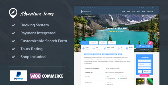preview.  large preview - Adventure Tours - WordPress Tour/Travel Theme