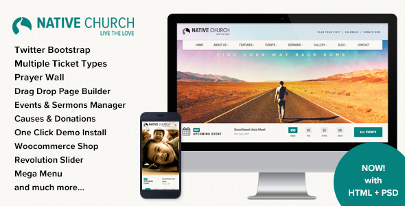 preview image1 large preview.  large preview - Native Church - Multi Purpose WordPress Theme