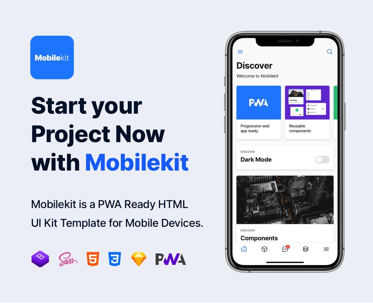 pwa template - Mobilekit - Bootstrap 4 Based HTML Template