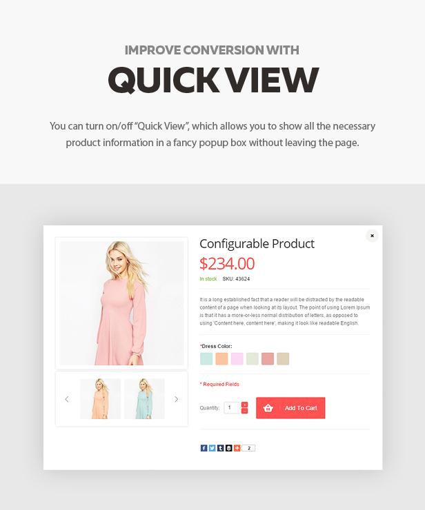 quickview - Shopper - Magento Theme, Responsive & Retina Ready