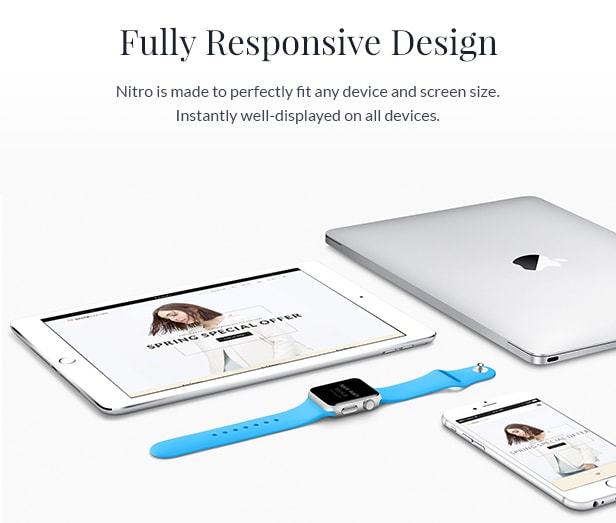 reponsive design - Nitro - Universal WooCommerce Theme from ecommerce experts