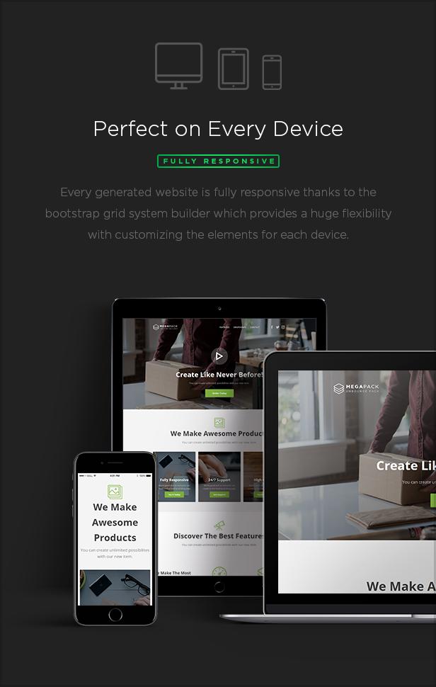 responsive - MEGAPACK – Marketing HTML Landing Pages Pack + PixFort Page Builder Access