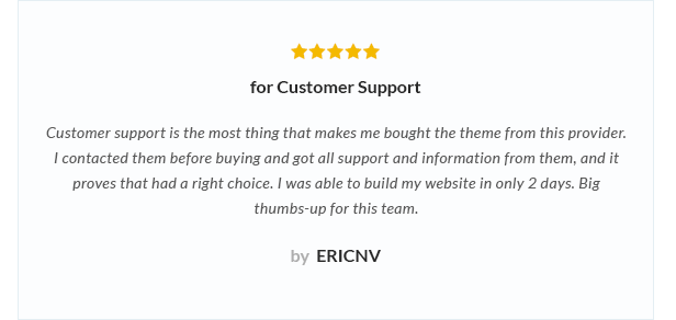 review 2 - Nitro - Universal WooCommerce Theme from ecommerce experts