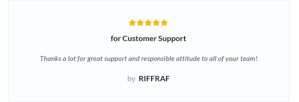 review 5 - Nitro - Universal WooCommerce Theme from ecommerce experts
