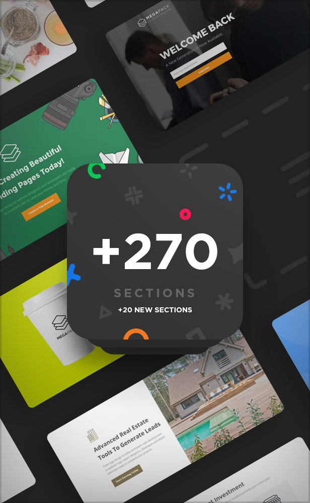 sections - MEGAPACK – Marketing HTML Landing Pages Pack + PixFort Page Builder Access
