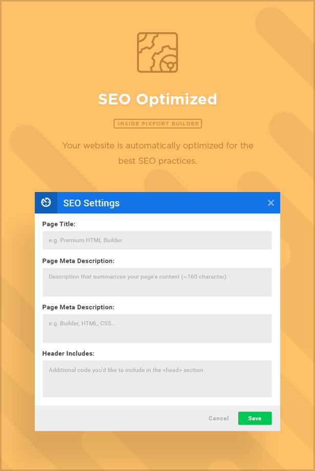 seo - MEGAPACK – Marketing HTML Landing Pages Pack + PixFort Page Builder Access
