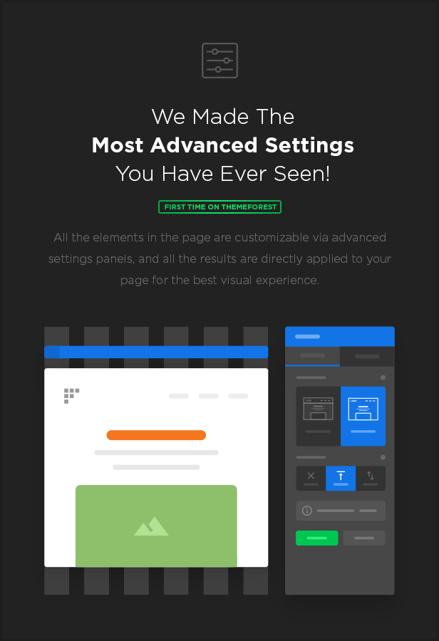 settings - MEGAPACK – Marketing HTML Landing Pages Pack + PixFort Page Builder Access