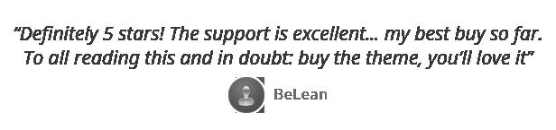 testimonial belean - Vellum - Responsive WordPress Theme