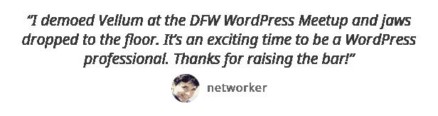 testimonial networker - Vellum - Responsive WordPress Theme