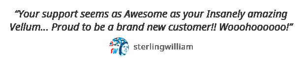 testimonial sterlingwilliams - Vellum - Responsive WordPress Theme