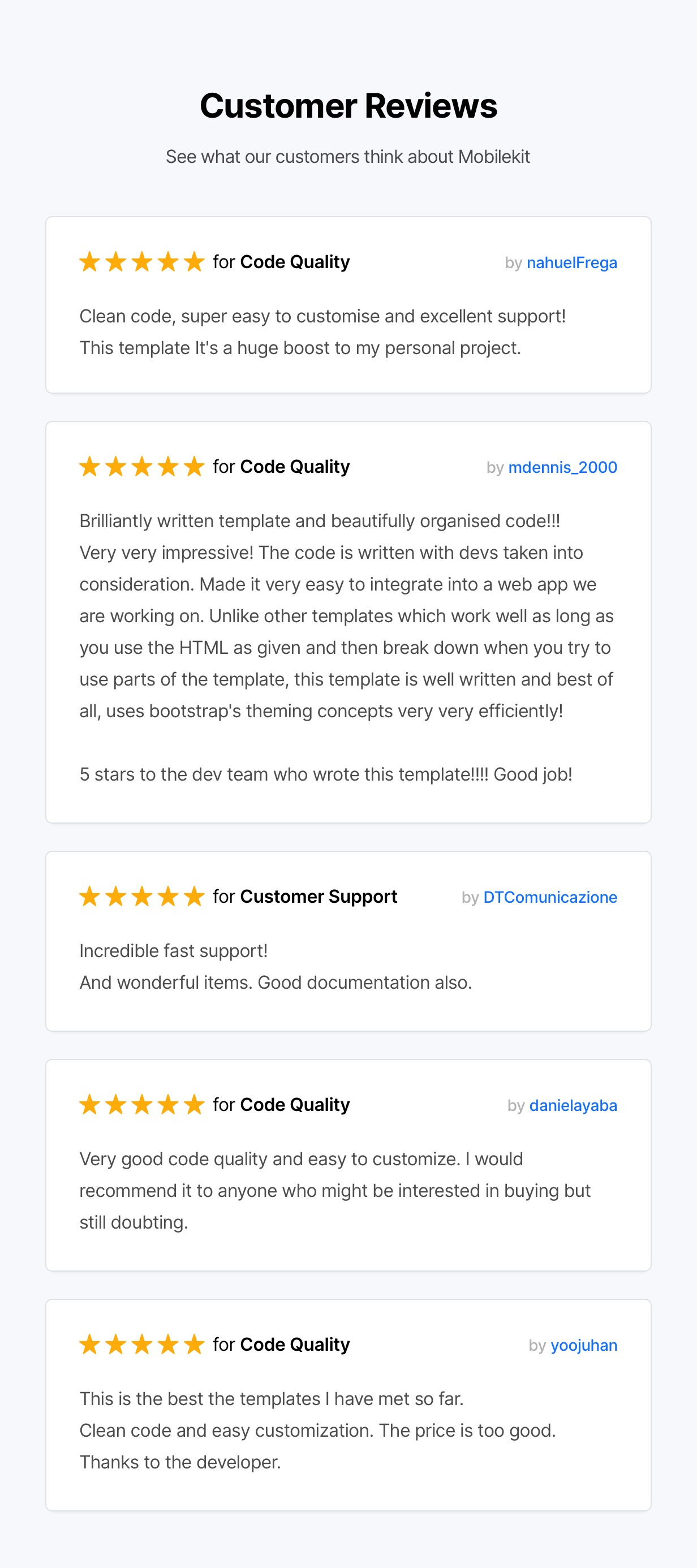 theme reviews - Mobilekit - Bootstrap 4 Based HTML Template